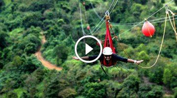 Meet the Monster, the longest, tallest, fastest zipline in the world