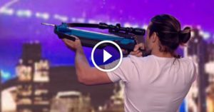 See the crossbow stunt that some viewers are calling 'outrageously dangerous'