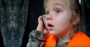 Excited 6-year-old girl calls mom after her first deer harvest