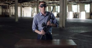 Senatorial candidate and former Army Captain assembles rifle blindfolded to make point