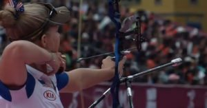 Watching professional archers' stabilizers in super slow motion really shows what they can do