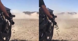 Motorcycle WITH a MINIGUN is the stuff of your wildest dreams