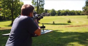 Incredible marksman make a 200 yard shot with crossbow