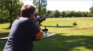Incredible marksman make a 200 yard shot with crossbow