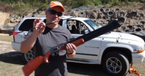 Is this arrow fired from an air rifle powerful enough to shoot through your car door?