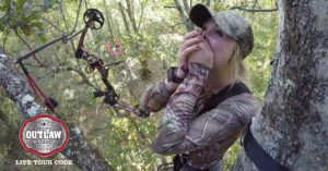 Florida girl bags her first deer with a bow and can barely handle the excitement