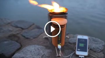 Amazing new camp stove uses excess heat to charge electronic devices