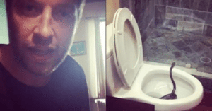 Video: Country Singer Opens Toilet Cover and Gets Shocked By What's Inside
