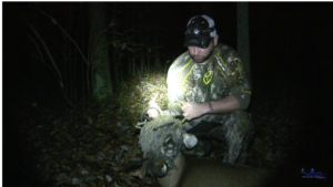 Hunter spends a tag on a spike buck after noticing something odd on its face