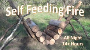 This guy will teach you how to build the perfect self feeding fire