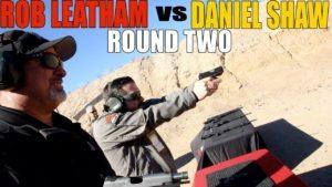 Rob Leatham vs. Daniel Shaw ROUND TWO!   Springfield Armory EMP4