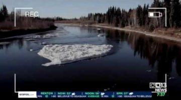 Man Surveying Ice on River Never Expected to Capture THIS on Video!