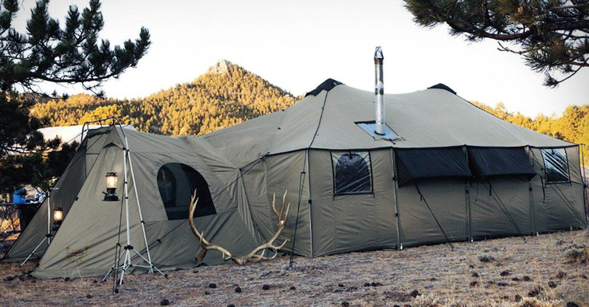 reputable site a9ef2 88fd7 Cabela's Tents: This giant Alaknak tent is bigger than some ...
