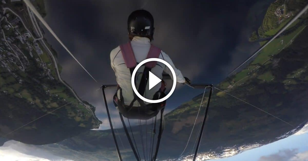 How this professional hang-glider manages his insane mid-air crisis