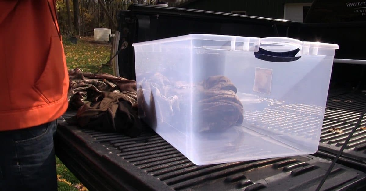 Rule the rut with an ingeniously simple truckbed storage solution from a department store