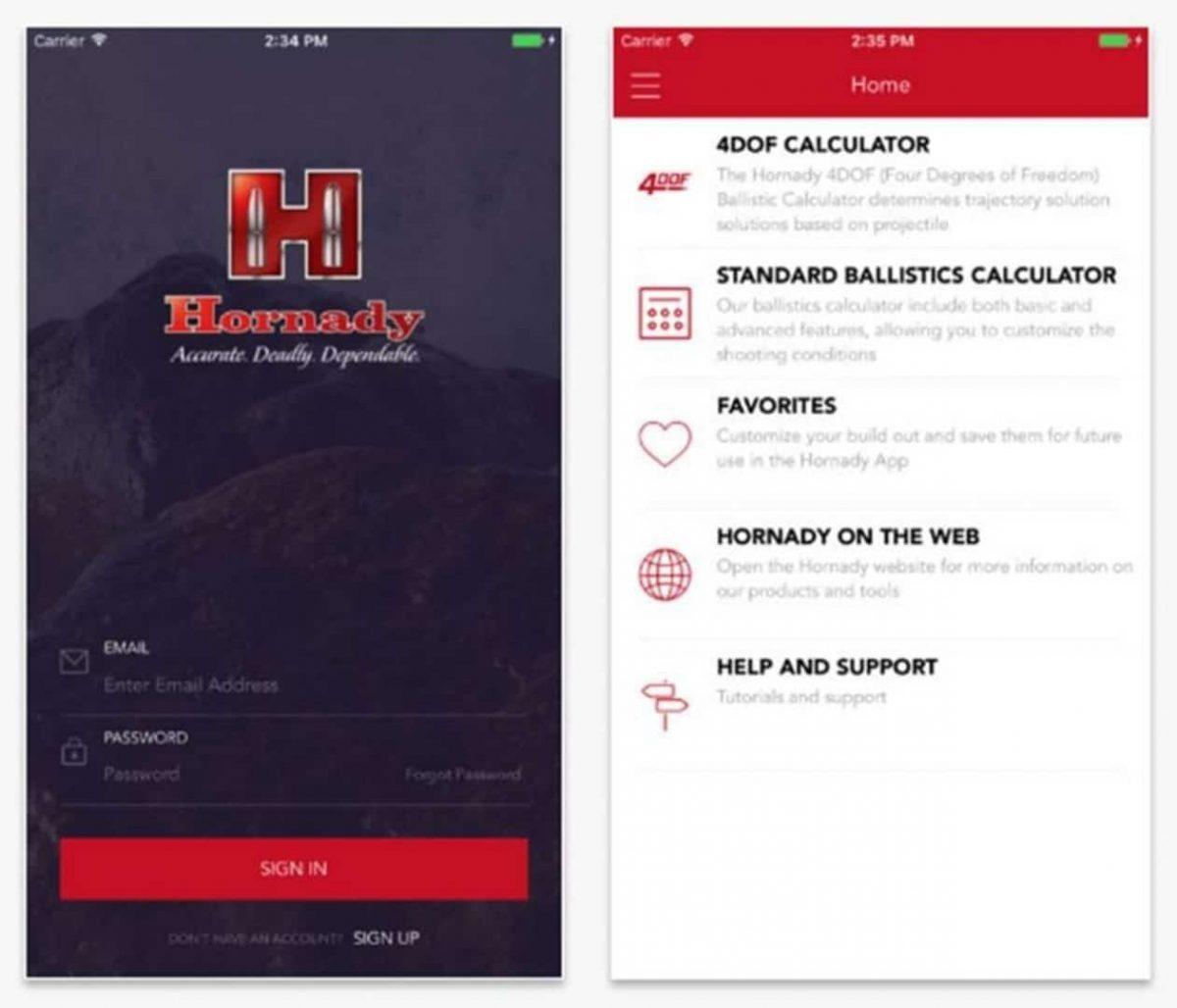 Get the Hornady Ballistic Calculator App with 4DOF