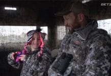 father-daughter deer hunt
