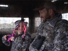 father-daughter deer hunt