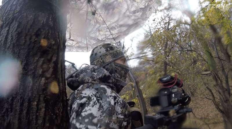 hunting in the rain