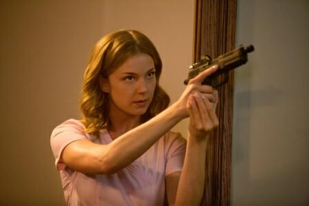A production image of Sharon:Agent 13 (Emily VanCamp) holding an FNP-45 Tactical_imfdb
