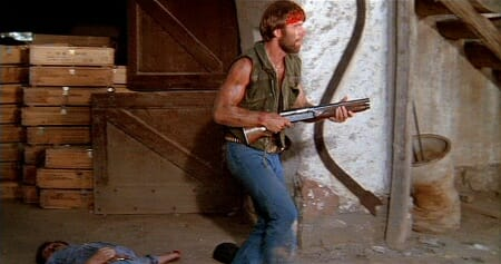 McQuade holds his Browning Auto-5 after in Lone Wolf McQuade_imfdb