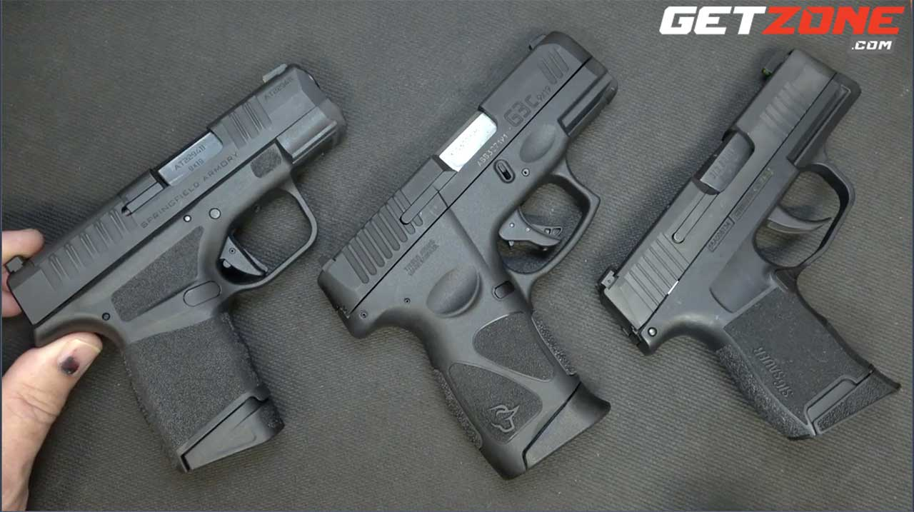 Battle Of The Micros Taurus G3c Sig P365 And Springfield Hellcat Getzone Com Exclusive Getzone