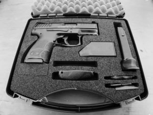 HK VP9SK pistol in the box