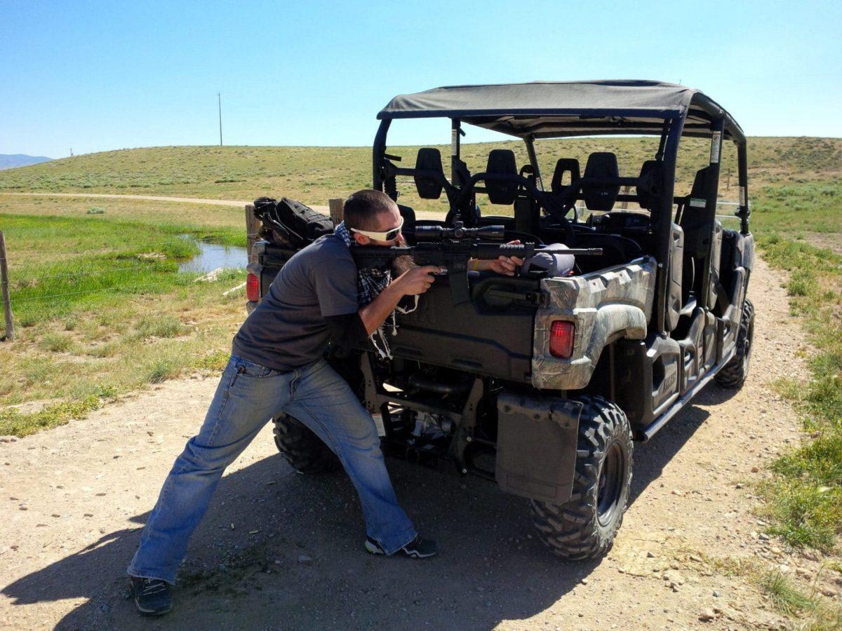 Prairie Dog Hunting Yamaha off road vehicle