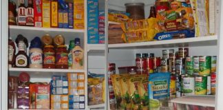 food stockpile in pantry