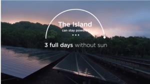 tesla island 3 days without sun