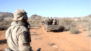 Instructor Zero training Rangers in Vehicle