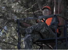 Clyde Roberts in tree stand